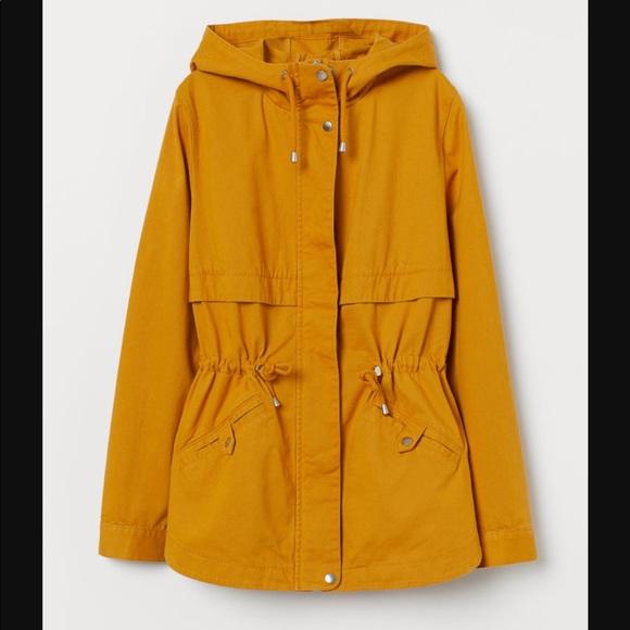 H&M parka jacket mustard size medium NEW